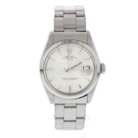 Rolex Oyster Perpetual Date 1500 Stainless Steel Automatic Vintage 34mm Mens Watch