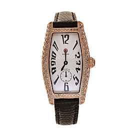 Michele Coquette 71-8001 Rose Gold Tone Stainless Steel 23mm Womens Watch