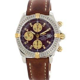 Breitling Chronomat B13356 18K Yellow Gold & Stainless Steel 44mm Mens Watch