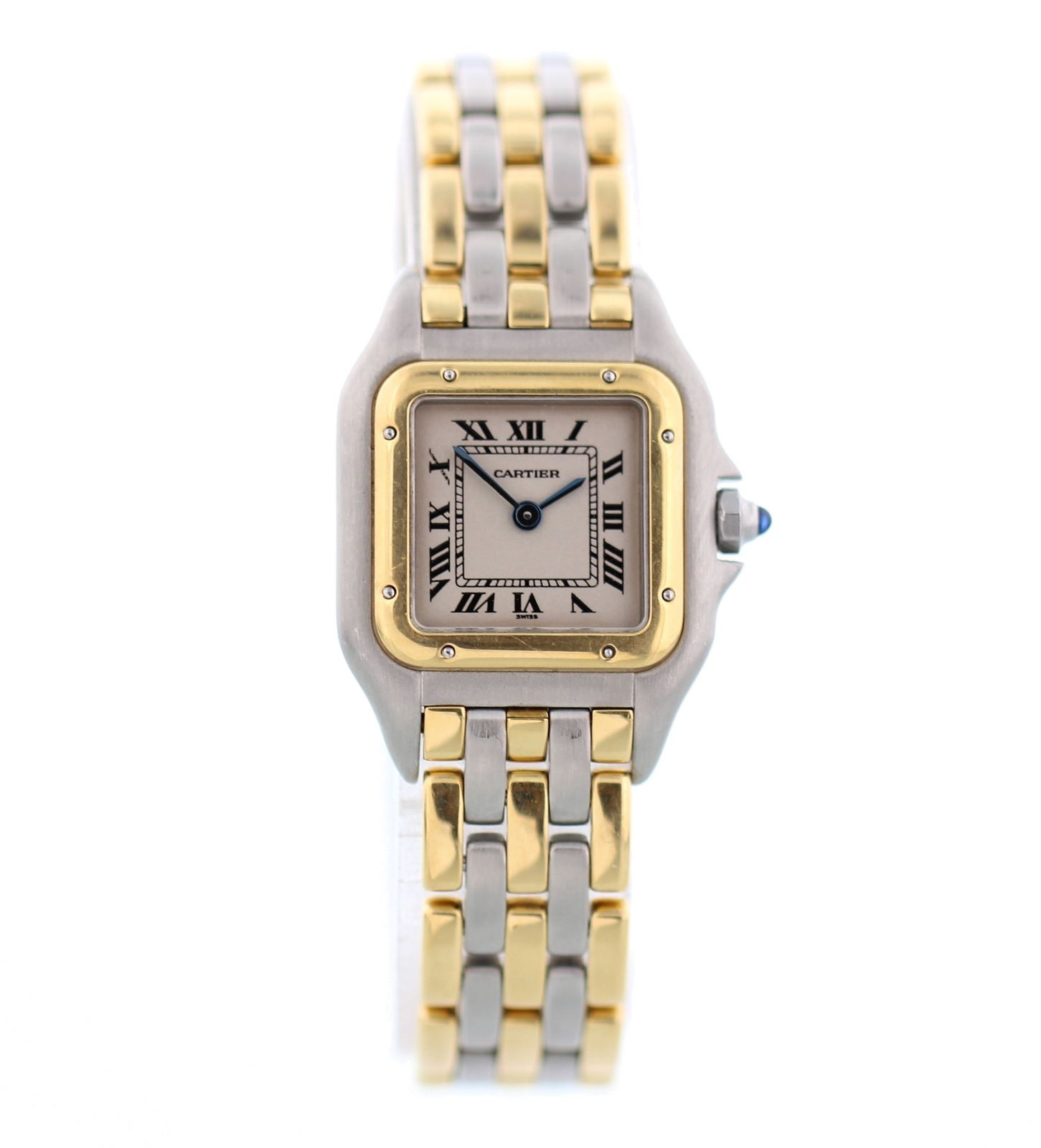 """Image of """"Cartier Panthere 168921 Three Row 18K Yellow Gold and Stainless Steel"""""""