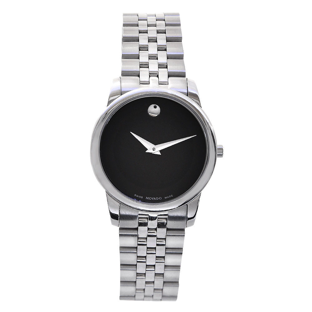 "Image of ""Movado Museum Classic 0606505 Stainless Steel Quartz 28mm Womens Watch"""