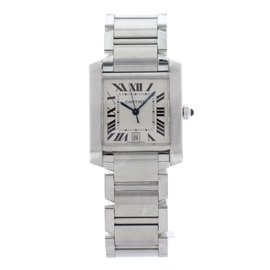 Cartier Tank Francaise 2302 Stainless Steel Automatic 28mm Unisex Watch