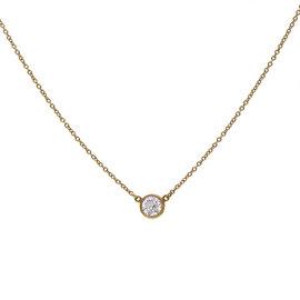 Tiffany & Co. Elsa Peretti 18K Yellow Gold 0.50ct Diamond Pendant Necklace