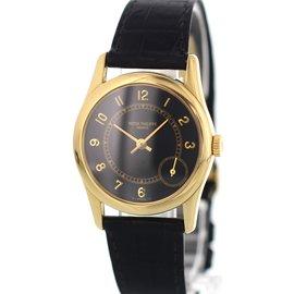 Patek Philippe Calatrava 5000 18K Yellow Gold & Leather 33mm Mens Watch