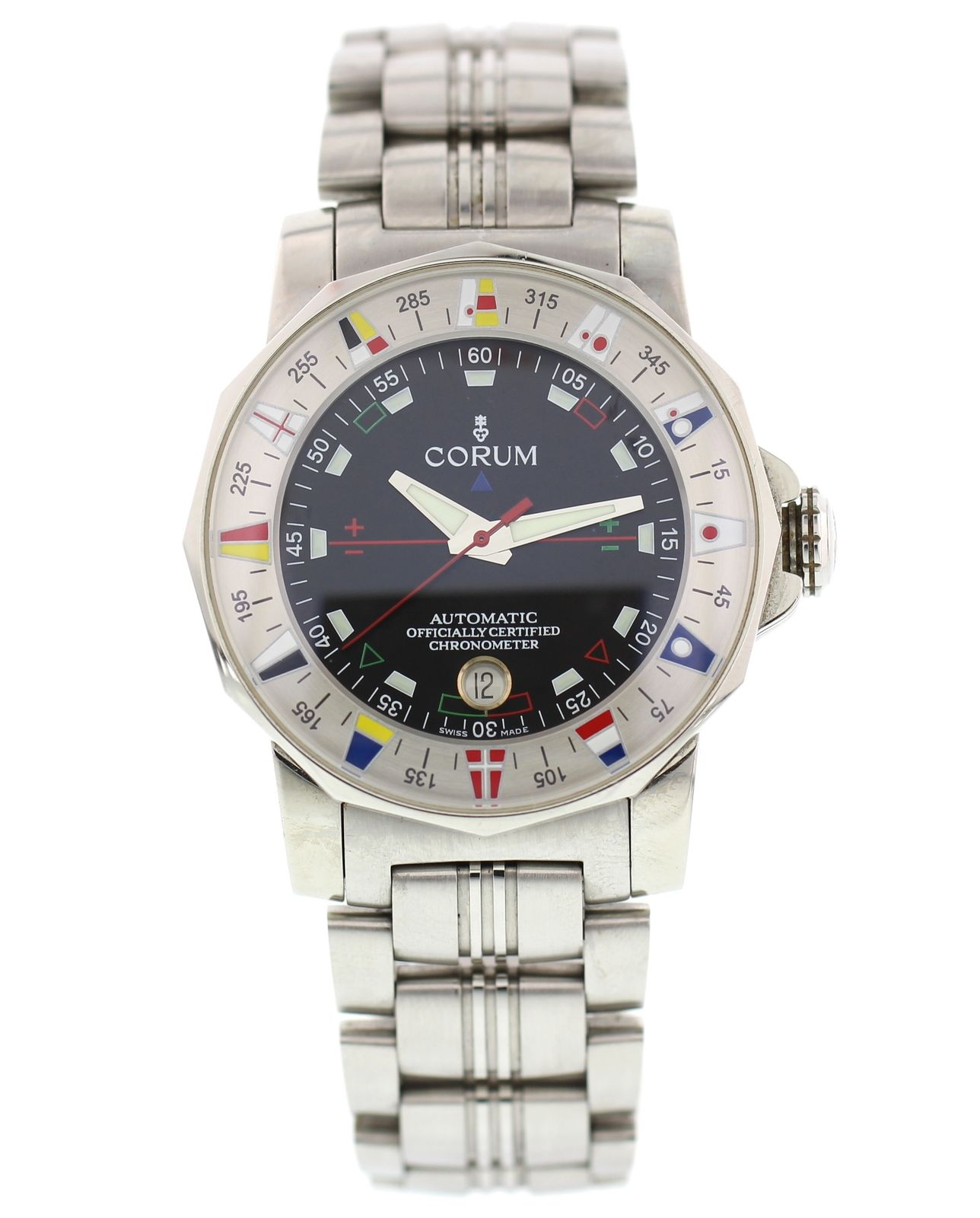"""""""""""Corum Admirals Cup 982.630.20 Stainless Steel Automatic 44mm Mens"""""""""""" 2329717"""