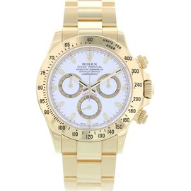 Rolex Oyster Perpetual Daytona 116528H 18K Yellow Gold 40mm Mens Watch