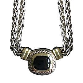 David Yurman Albion 925 Sterling Silver & 14K Yellow Gold Onyx Necklace