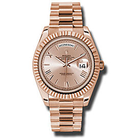 Rolex Day-Date II President Rose Gold Pink Champagne Dial 40mm Watch