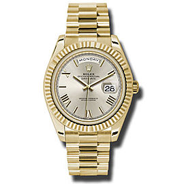 Rolex Day-Date Yellow Gold Silver Dial 40 mm Watch