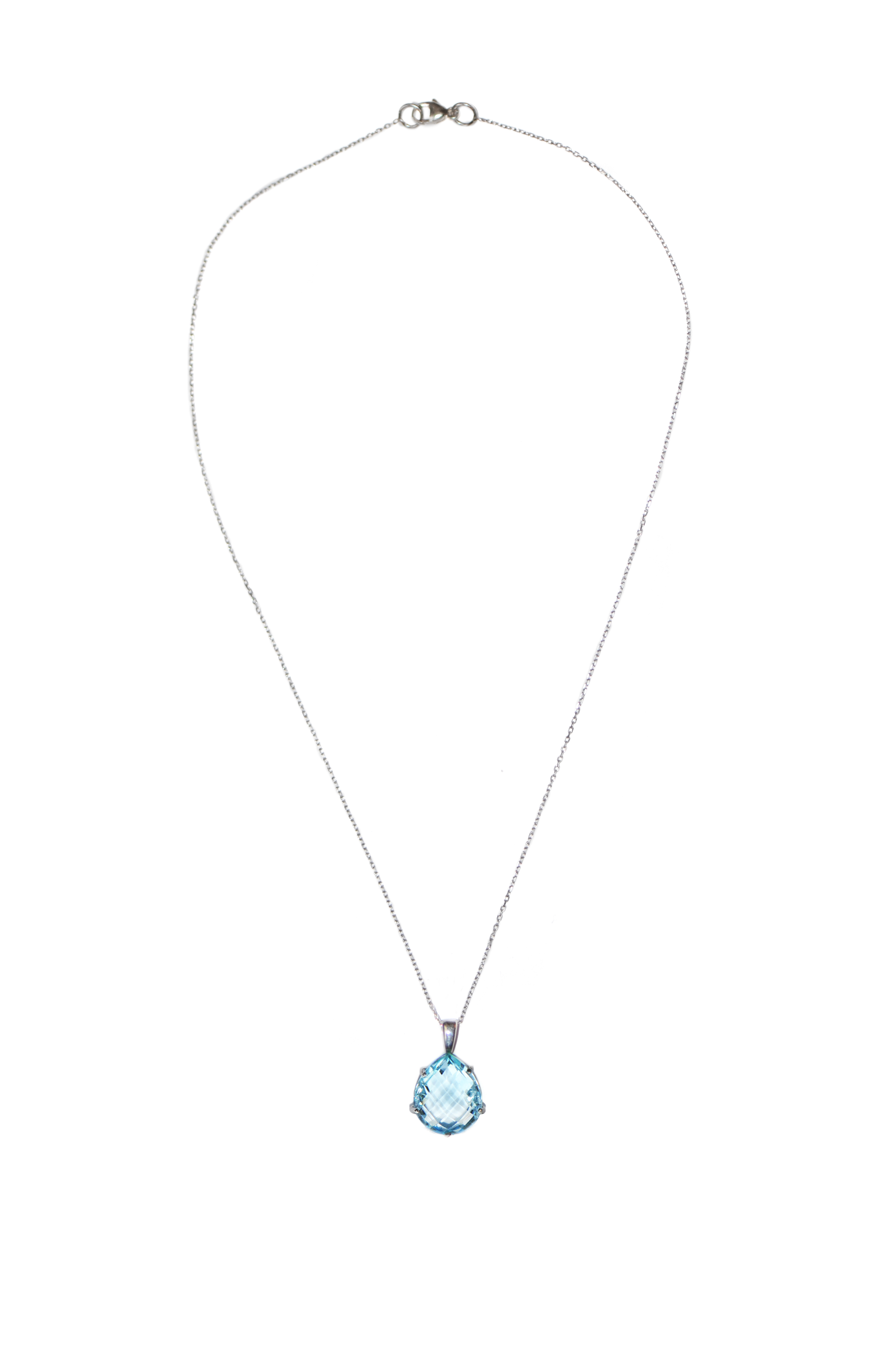 "Image of ""Anzie Sterling Silver Blue Topaz Necklace"""