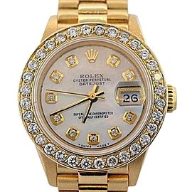 Rolex Datejust 18K Yellow Gold MOP & 2.3ct Diamond 26mm Watch