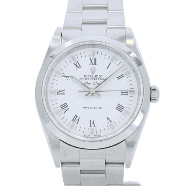 "Image of ""Rolex Air King 14000M Stainless Steel White Dial Automatic 34mm Men's"""