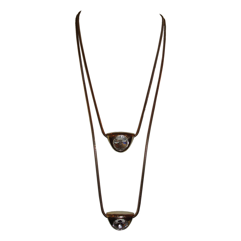 "Image of ""Lanvin 18K Yellow Gold-Tone Double Headlight Pendant Necklace"""