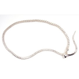 Tiffany & Co. Elsa Peretti Sterling Silver Snake Necklace