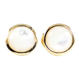 Ippolita Earrings 18K Yellow Gold Mother of Pearl Lollipop Small Stud