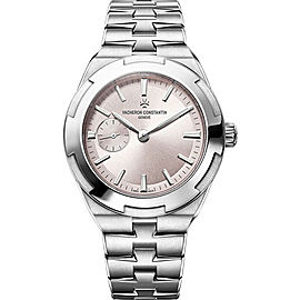 Vacheron Constantin Overseas 2300V/100A-B078 Stainless Steel with Light Pink Dial Automatic 37mm Womens Watch
