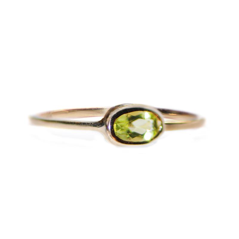 "Image of ""14k Gold Peridot Ring"""