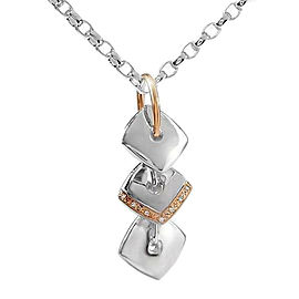 Lorenzo Diamond Sterling Silver & 18K Yellow Gold Pendant Necklace