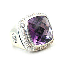 David Yurman Albion Amethyst Diamond Ring