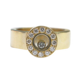 Chopard Yellow Gold Happy Diamond Ring