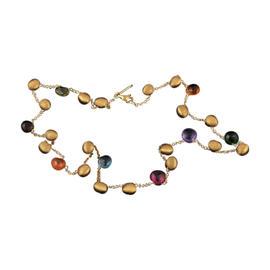 Marco Bicego Aruba Single Strand 18K Yellow Gold Multi-Gemstone Necklace