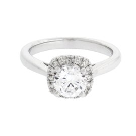 Scott Kay 14K White Gold Diamond Halo Engagement Ring