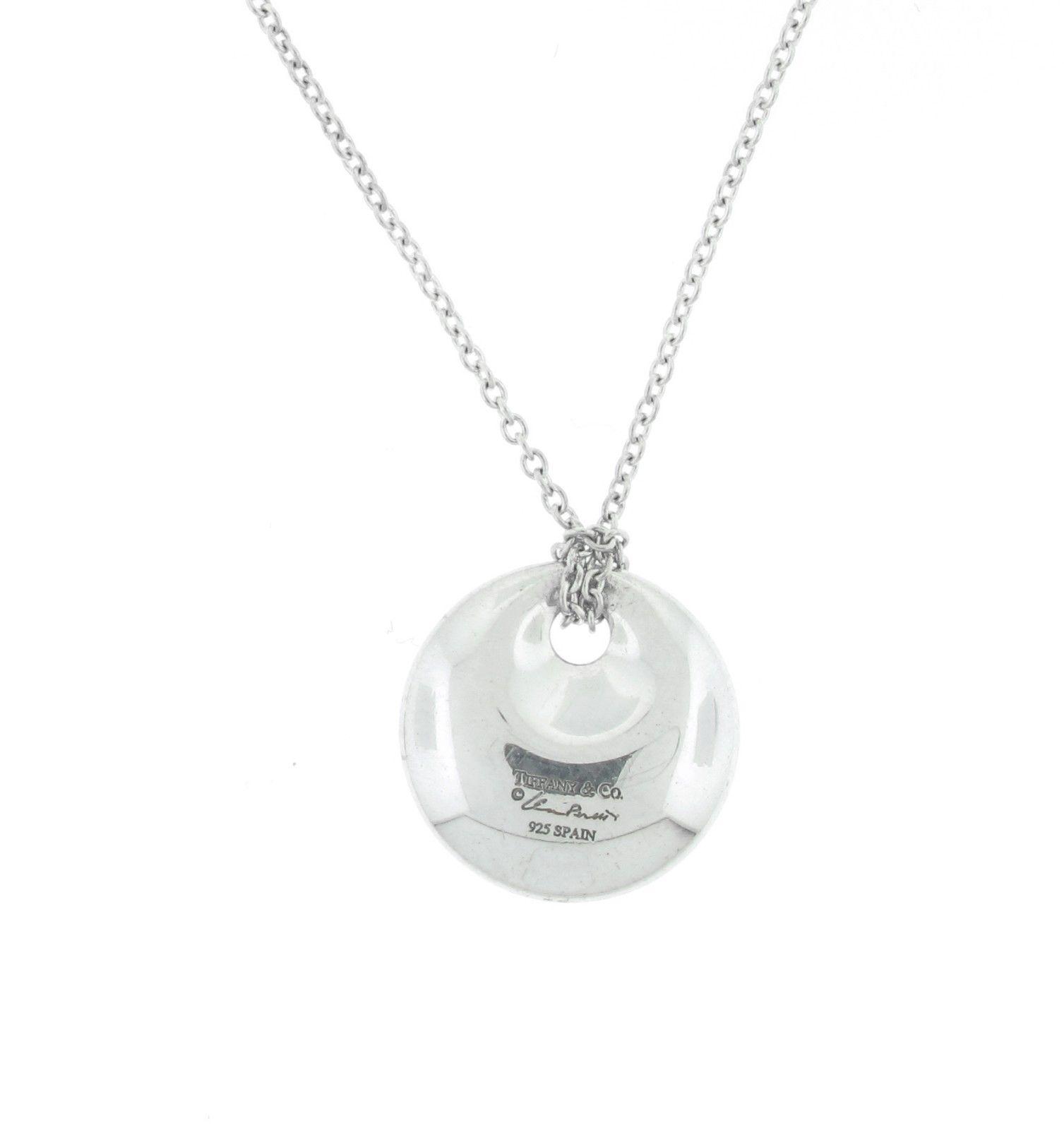 """Image of """"Tiffany & Co. Silver Elsa Peretti Round Pendant"""""""