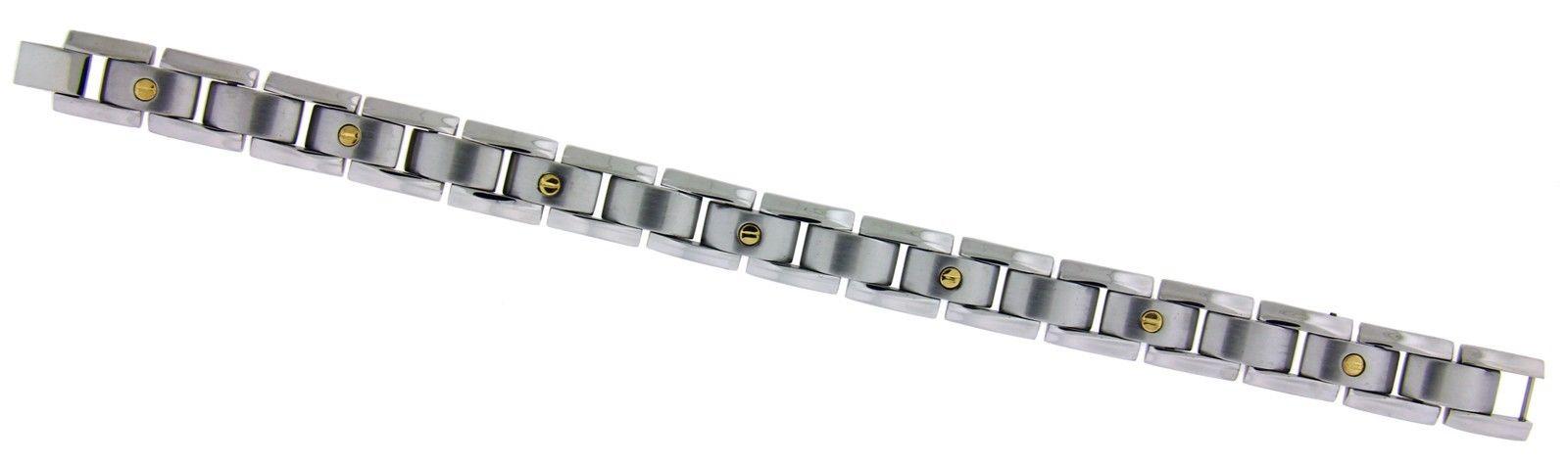 "Image of ""Braccio Stainless Steel 18K Yellow Gold Bracelet"""