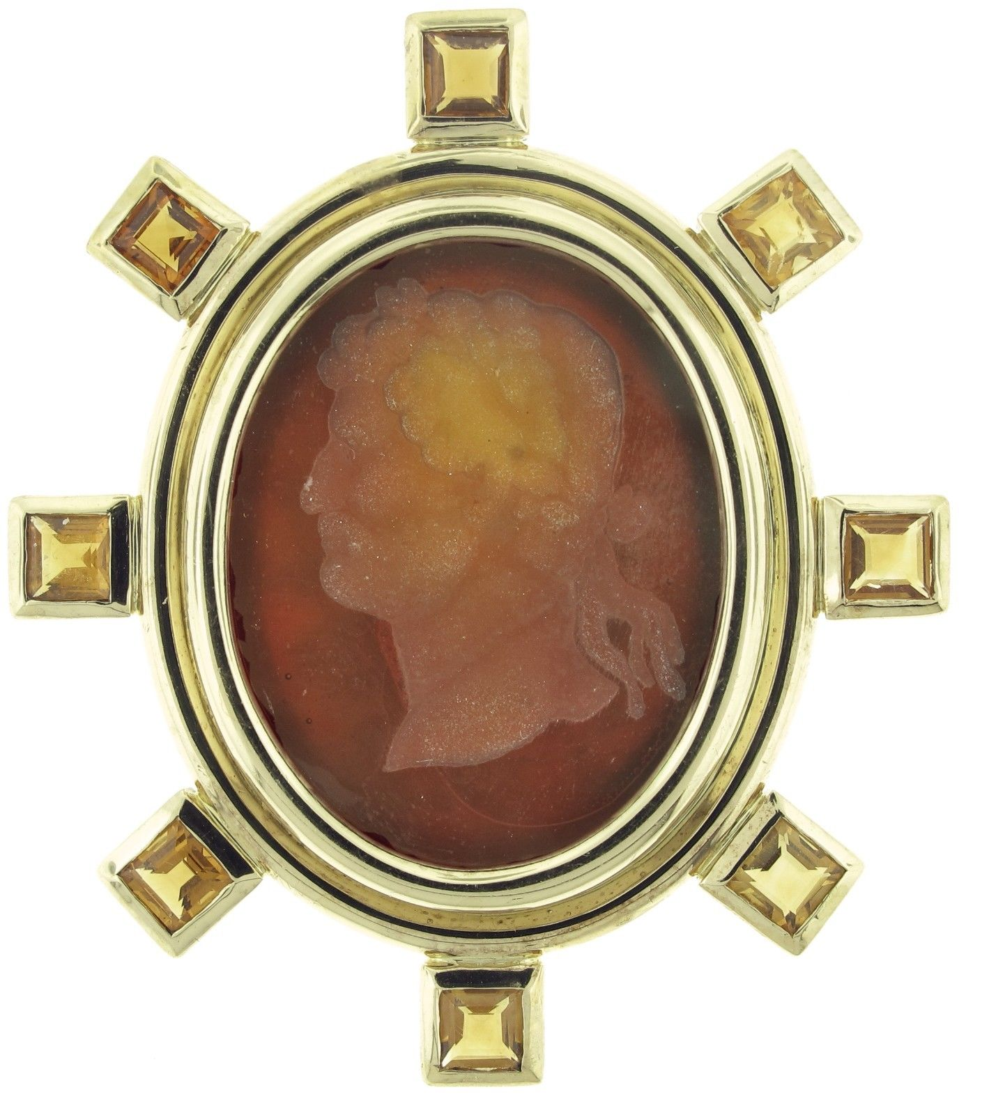 "Image of ""Elizabeth Locke 19K Yellow Gold And Venetian Glass Brooch"""