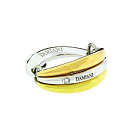 Damiani 18K Three-Tone Gold Diamond Multi Band Ring
