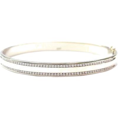 "Image of ""Fine Round Cut Diamond Bangle Bracelet"""