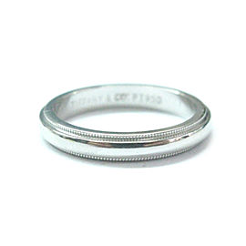 Tiffany & Co Platinum Milgrain 3mm wide Wedding Band Ring