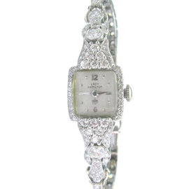 Platinum & 14K White Gold Hamilton Diamond Watch