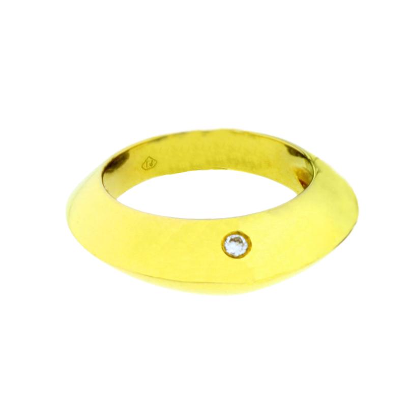 "Image of ""Piaget 18K Yellow Gold Diamond Dome Ring"""