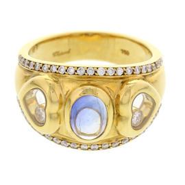 Chopard 18K Yellow Gold Happy Diamonds & Sapphire Ring