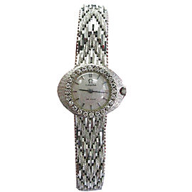 Omega De Ville Diamond 18k White Gold Watch