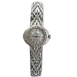 Omega De Ville Diamond 18k White Gold Watch