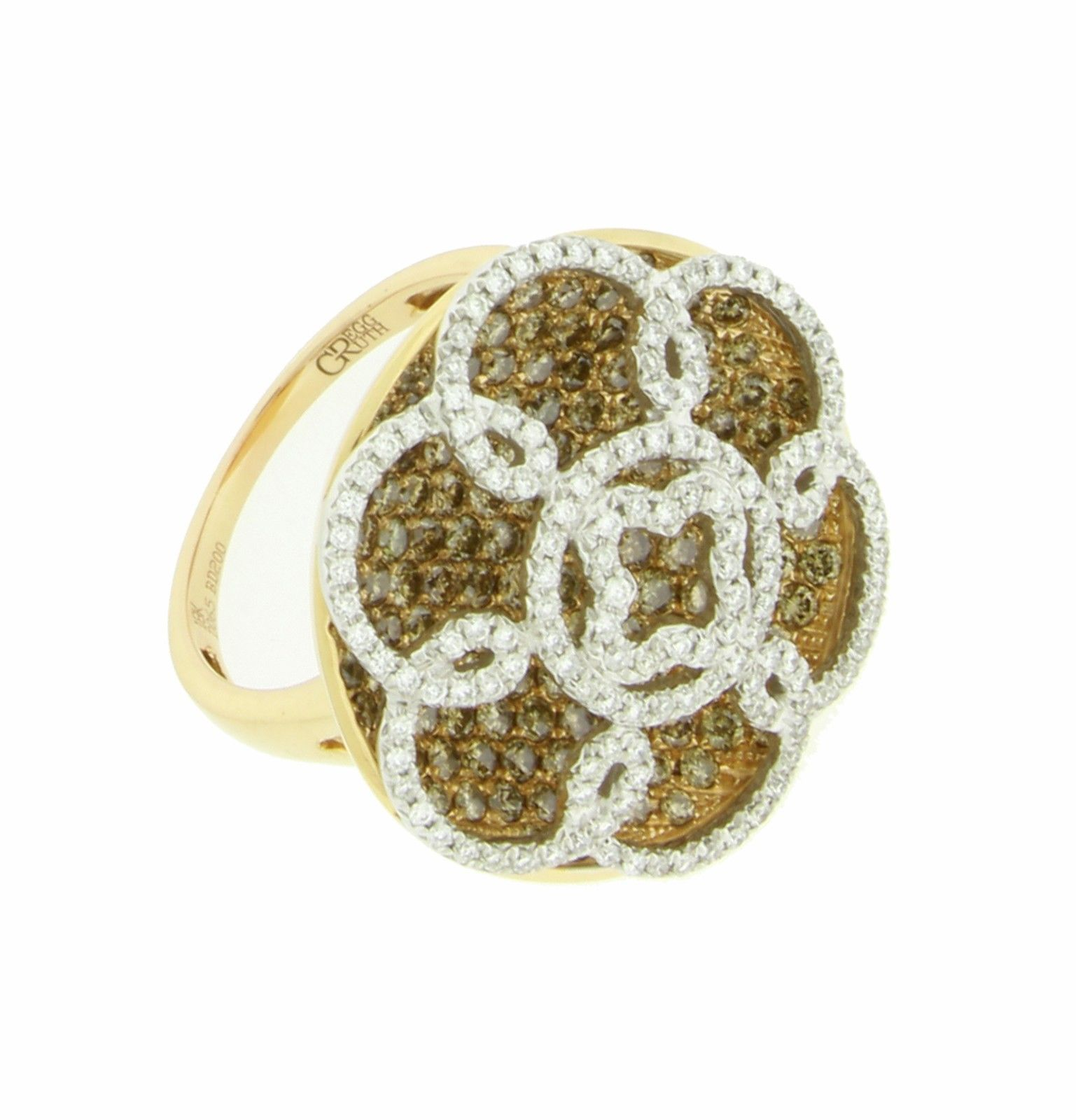 "Image of ""Gregg Ruth 18K Rose Gold Diamond Ring Size 6.5"""