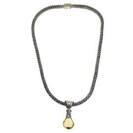 John Hardy 925 Silver & 18K Gold Citrine Necklace