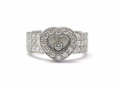 """Image of """"Chopard Happy Diamond 18K White Gold Heart Ring"""""""