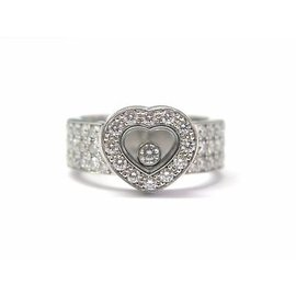 Chopard Happy Diamond 18K White Gold Heart Ring