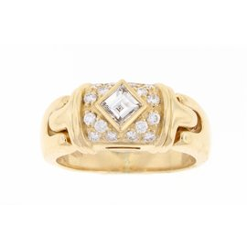 Bulgari 18K Diamond Ring Size Medium