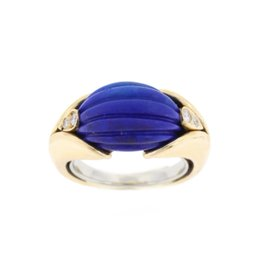 Van Cleef & Arpels Yellow Gold Lapis Ring