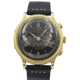 Rare Eberhard & Co. 18K Yellow Gold Chronograph Mens Watch