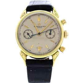 Vacheron Constantin 18K Yellow Gold Cornes de Vaches Vintage Men's Watch