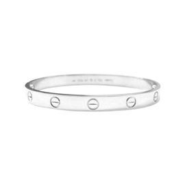 Cartier Love Bracelet White Gold Size 17