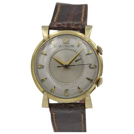 Jaeger LeCoultre Memovox Yellow Gold Vintage Watch