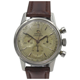 Omega Seamaster Chronograph Tachymetre Stainless Steel Vintage Watch