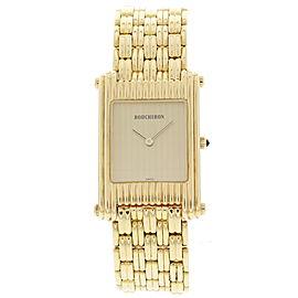 Boucheron A256 / 2174 18K Yellow Gold Reflet Vintage Men's Watch