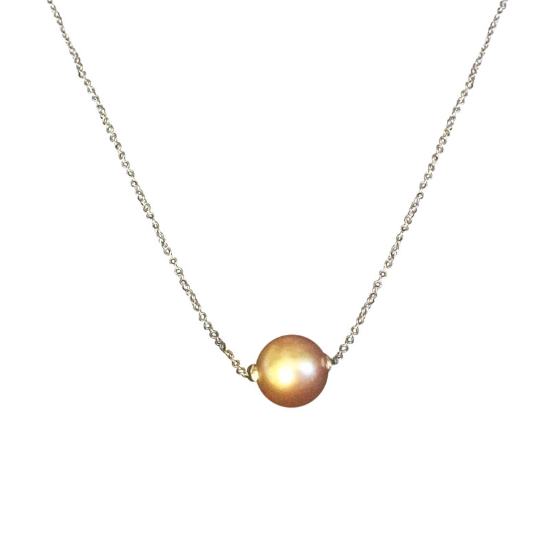"Image of ""Bliss by Damiani 18K White Gold 'Evergreen Rolling' Pearl Necklace"""